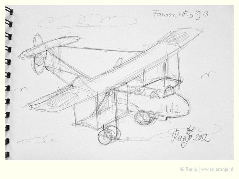Schets vliegtuig Louwman museum
