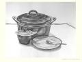 Houtskool tekening pan